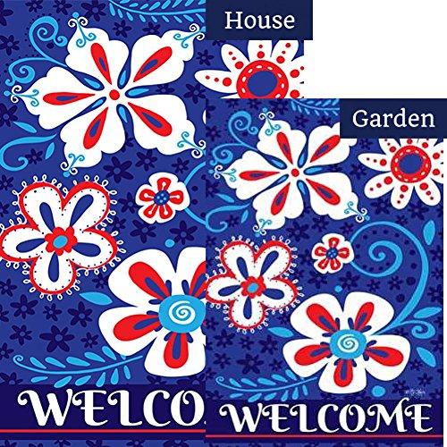 Patriotic Petals - Toland Patriotic Petals Flag Bundle (Bundle Of 2)