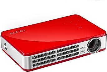 Vivitek Qumi Q5 Proyector DLP de bolsillo, 500 lúmenes, WXGA, 720p HD, HDMI 3D-Ready, con 4GB de memoria (rojo)