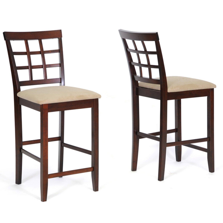 Amazon.com   Baxton Studio Katelyn 7 Piece Modern Pub/Dining Set   Table U0026  Chair Sets