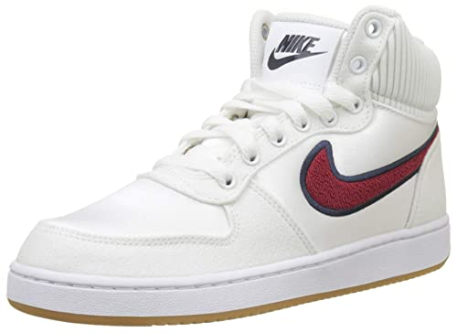 Nike WmnsEbernon Mid Prem, Zapatos de Baloncesto para Mujer, Blanco (White/Red Crush/Blackened Blue 100) 39 EU: Amazon.es: Zapatos y complementos