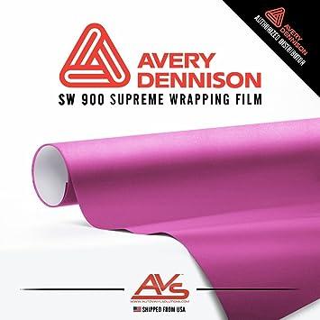 Amazon Com Avery Supreme Wrapping Film Avery Pink Matte Metallic Vinyl Car Wrap Sheet 75ft X 5ft 900 X 60 Automotive