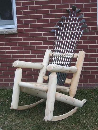 Golf Club Rocker Chair In Blond Finish