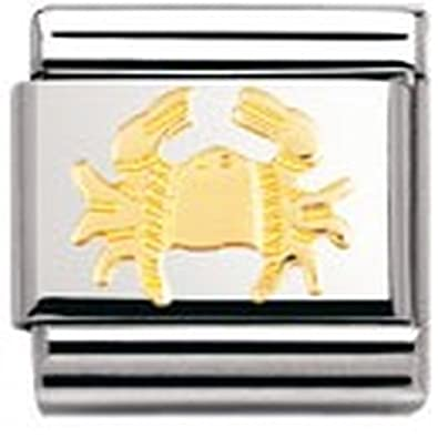 Nomination Composable Classic Star Sign Cancer Stainless Steel and 18K Gold 6cHmgoTV
