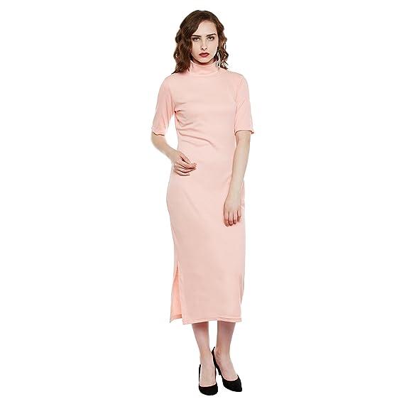 dc55bc6f1ff2 The Silhouette Store Women Solid Dress 1968445031 Peach Coloured X-Small