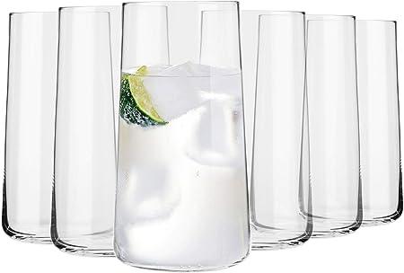 Krosno Grande Vasos de Agua Highball | Set 6 Piezas | 540 ML | Avant-Garde Collection Uso en Casa, Restaurante y en Fiestas | Apto para Microondas y Lavavajillas