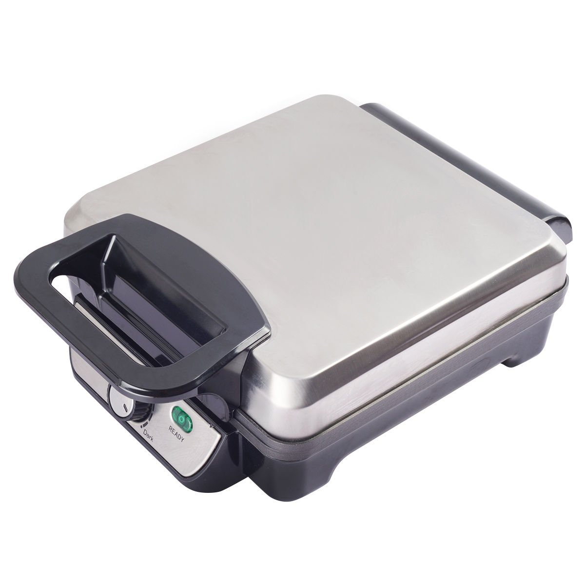 Costway Flip Belgian Waffle Maker Non Stick Stainless Steel w/Removable Drip Tray (Square)