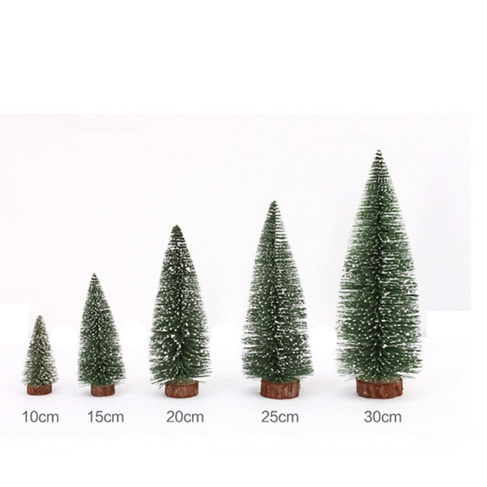 Mini Christmas Tree, Hmlai Mini Artificial Christmas Tree Stick White Cedar Desktop Small Christmas Tree Christmas Decoration (Height:10cm, Green)