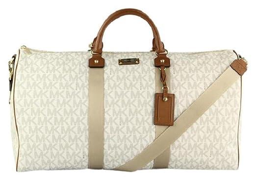22ca44a56858 Amazon.com  Michael Kors 35T6GTFU4B Travel XL Vanilla PVC Duffle Weekender  Carry On Luggage Bag