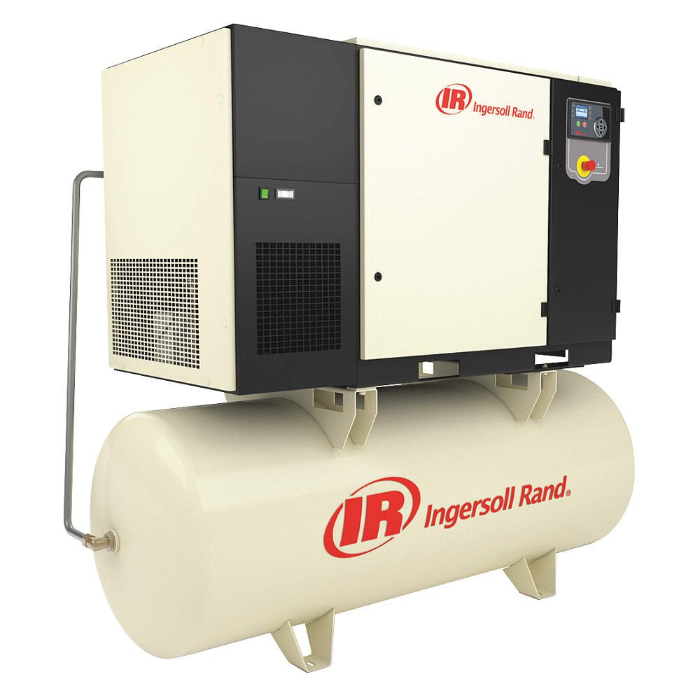 Ingersoll-Rand - UP6S-30-125/120/460 - 77-1/2 x 36 x 72 3-Phase 30 HP  Rotary Screw Air Compressor with 120 gal. Tank Size: Amazon.com: Industrial  & ...