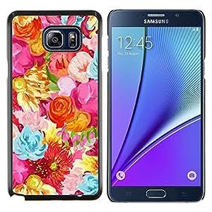 Stuss Case / Funda Carcasa protectora - Campo Flores Patrón vibrante - Samsung Galaxy Note 5