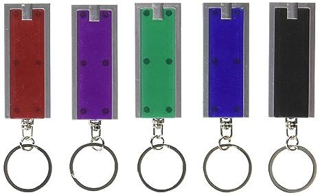 Uteruik Mini Linterna LED Llavero - 12 Unidades (los Colores ...