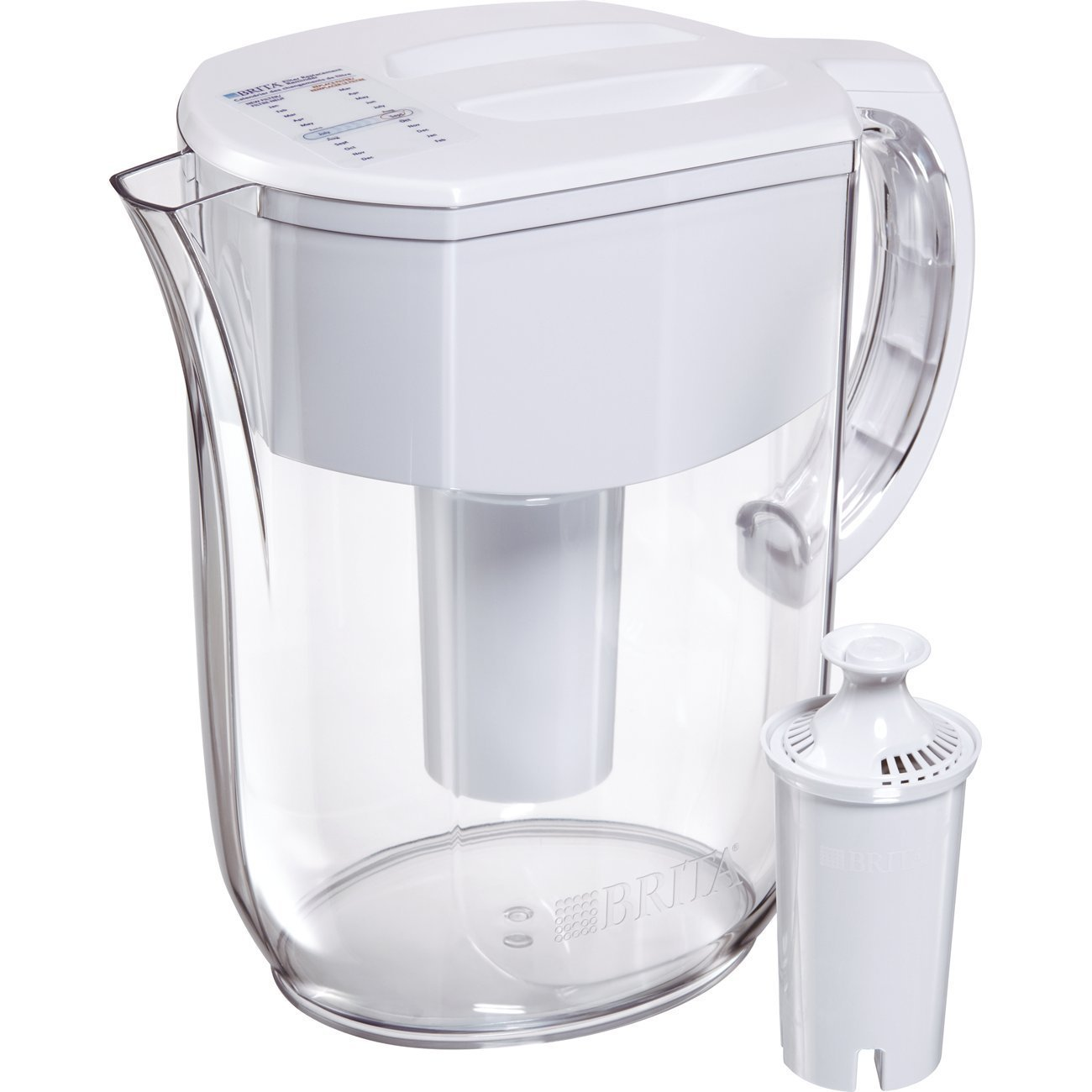 Ms Kelly Brita Large 10 Cup Everyday Water Pitcher with Filter - BPA Free - White
