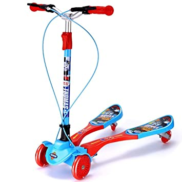 Amazon.com: Yunfeng - Patinete infantil con 4 ruedas y ...