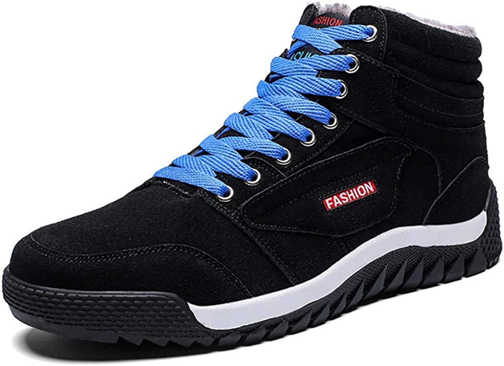 LEODI Mens Winter Sneakers Warm Cotton Inner Sport Snow Running Shoes Shoes for Outdoor Sport Casual Daily Hiking Trainers