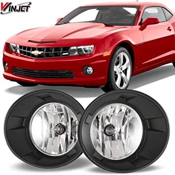 Fit 10-13 Chevrolet Camaro Front Fog Lights Clear Lens Bulbs Wiring+Switch