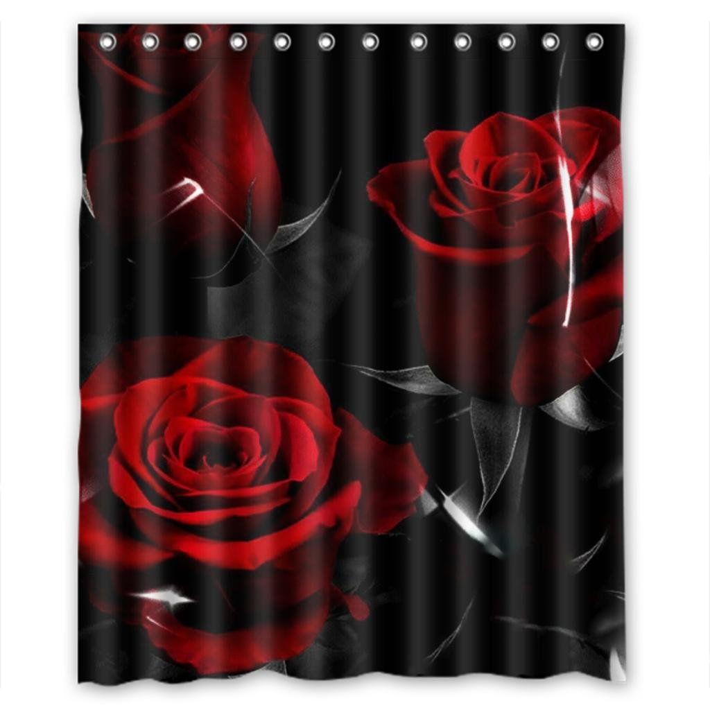 Amazon.com: Glam Fire Red Rose And Black Leaves Best Home Fashion ...
