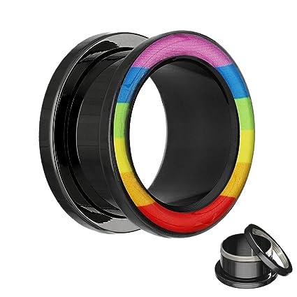 Dilatador Treuheld con diseño arcoíris, disponible en 12 tamaños: 2 mm - 20 mm