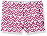 Nautica Little Girls' Printed Woven Short, Medium Pink NBE0086Q, 5