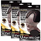 (3 Pack) Qfitt - Side Parting U-Part Wig Cap with Lace #5016