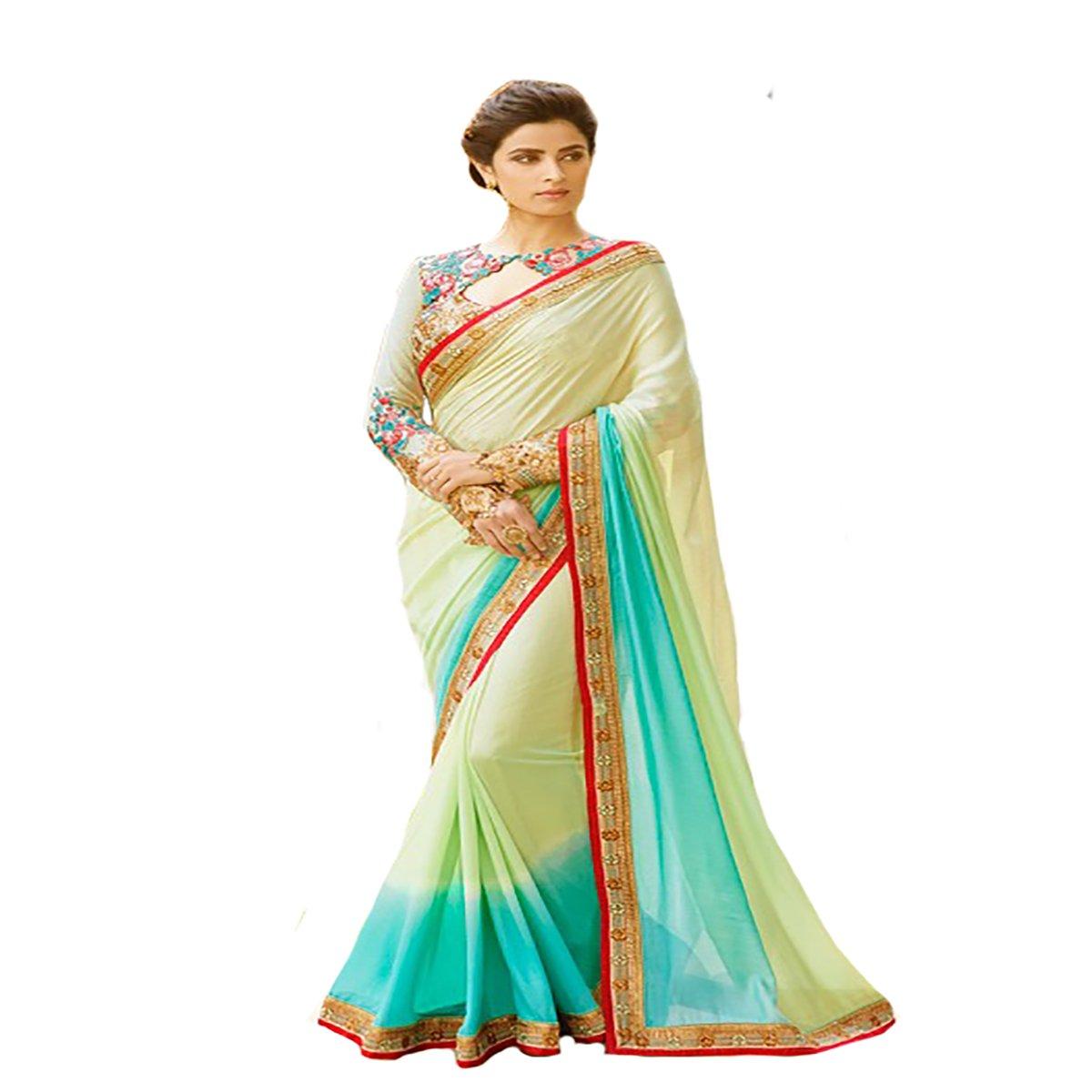 Indian Diwali Wedding Georgette Ceremony Party Wear Sari Women Saree Designer Work Original Ethnic Traditional Sexy 8102