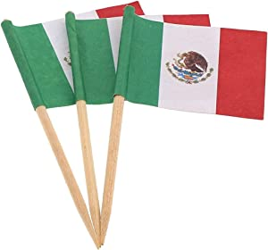 Royal Mexican Flag Picks, Package of 144