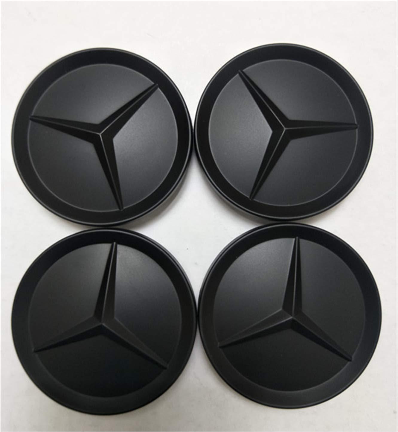 4X Wheel Center Caps Emblem Matte Black Hubcaps 64MM fit Mercedes Benz yfaith