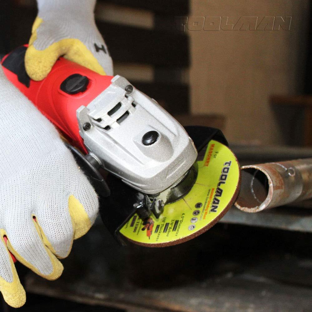 Toolman Premium Cut Off Cutting Wheel Universal Fit 5pcs 24 Grit 15200 RPM 4 x 5//8 x 1//4 for Metal and Stainless Steel Works with DeWalt Makita Ryobi
