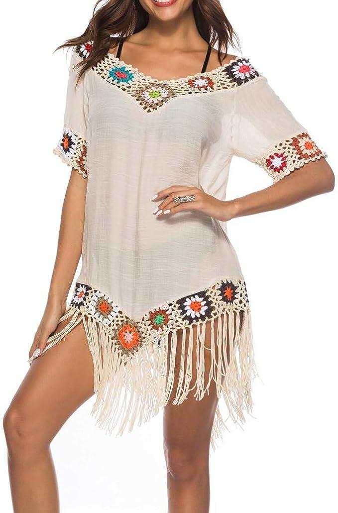Copricostume Mare Donna Vestito ABCone Donna Vestito da Mare Spiaggia  Copricostumi e Parei Donna Costume da Bagno Taglie Forti Estate Boho Hippie  Kaftan Tunica Kimono Abito da Spiaggia Vestito: Amazon.it: Abbigliamento