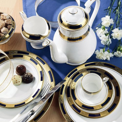 Aynsley Empress Cobalt 5 Pc Place Setting(s)