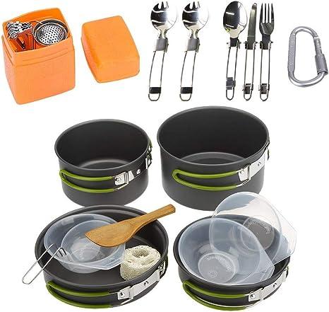 FYHCY Utensilios Cocina Camping 2-3 Personas Aluminio ...