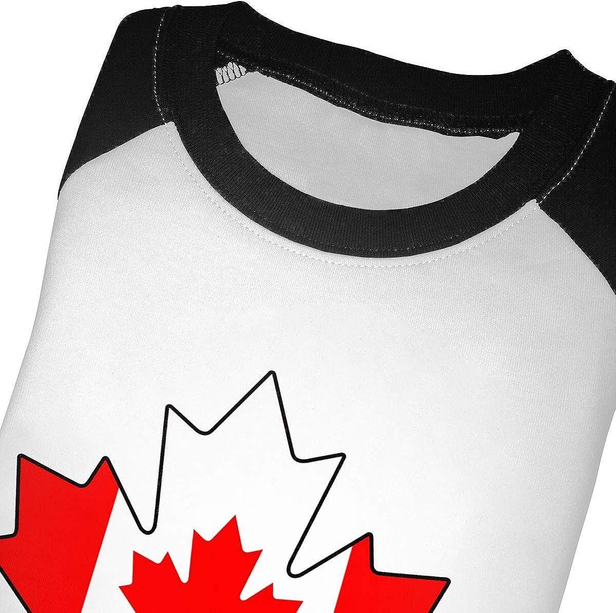 Boys Girls Kids /& Toddler Canadian Canada Flag Maple Leaf Long Sleeve Tees 100/% Cotton