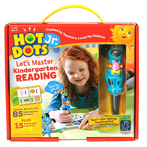 Educational Insights Hot Dots Jr. Let's Master Kindergarten Reading Set with Ace Pen -