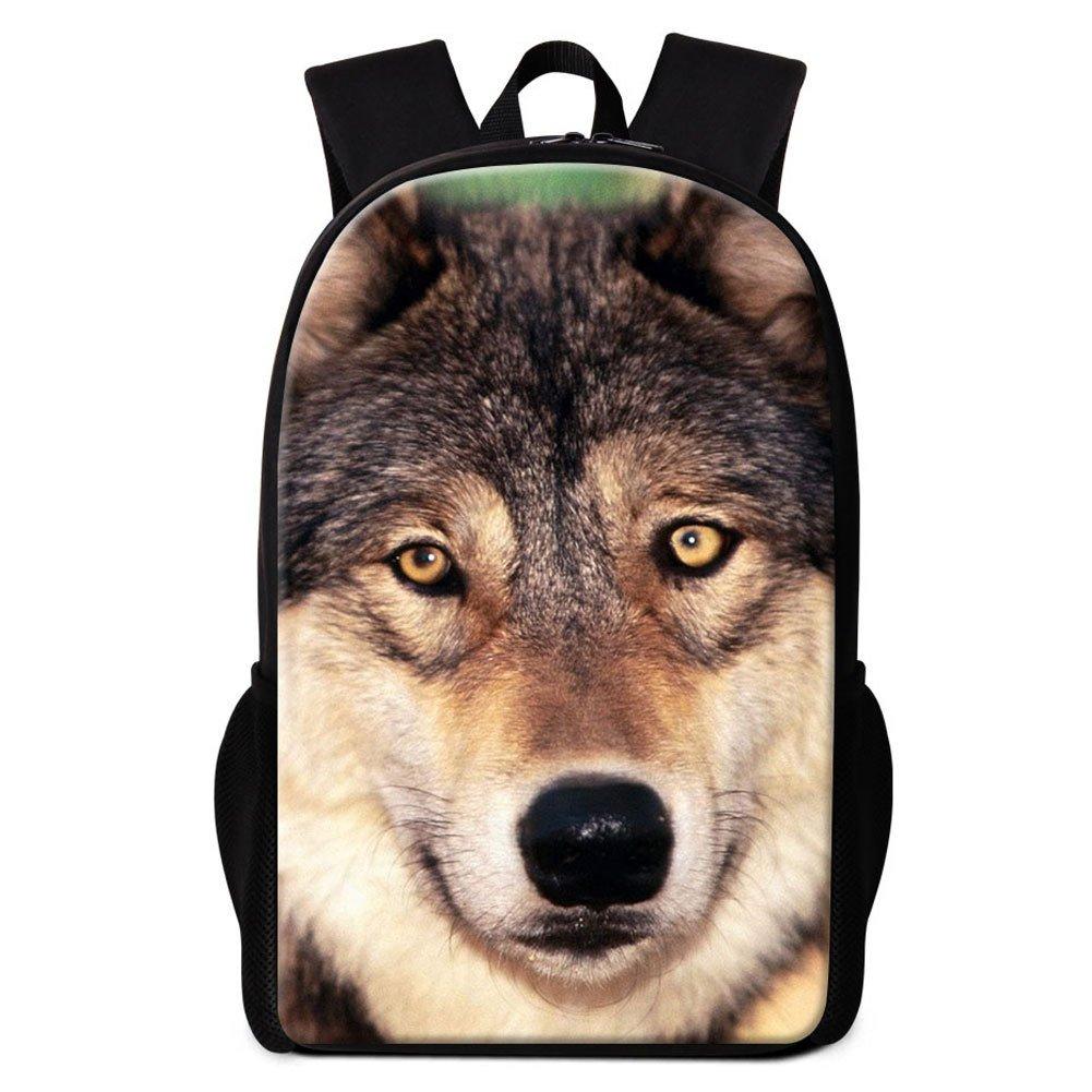 Amazon.com: Dispalang Wolf Printed Backpack for Boys Cool School Bookbag Children Shoulder Back Pack Animal Mochilas: Sports & Outdoors