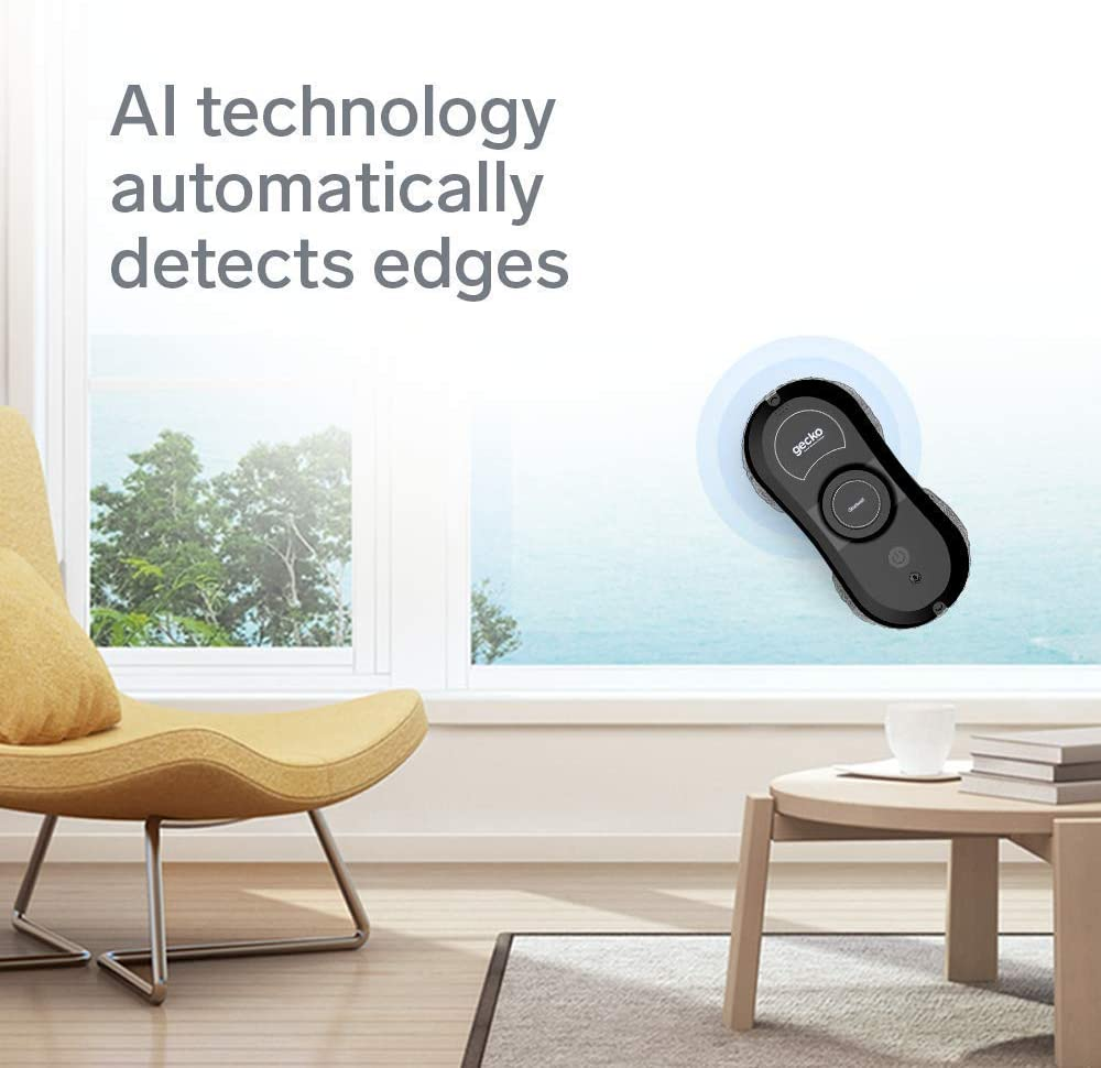 Smart Glass Cleaning Robotic Technology App /& Remote Powered Washer for Table High Windows Ceiling Magnetic Automatic Outdoor//Indoor Black Gladwell Gecko Robot Window Cleaner 1 Year Warranty -