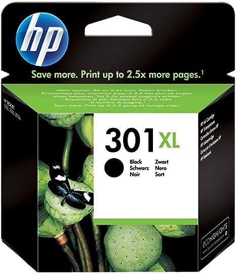 HP Pack de Ahorro de 2 Cartuchos de Tinta HP 301 XL Negro: Amazon ...