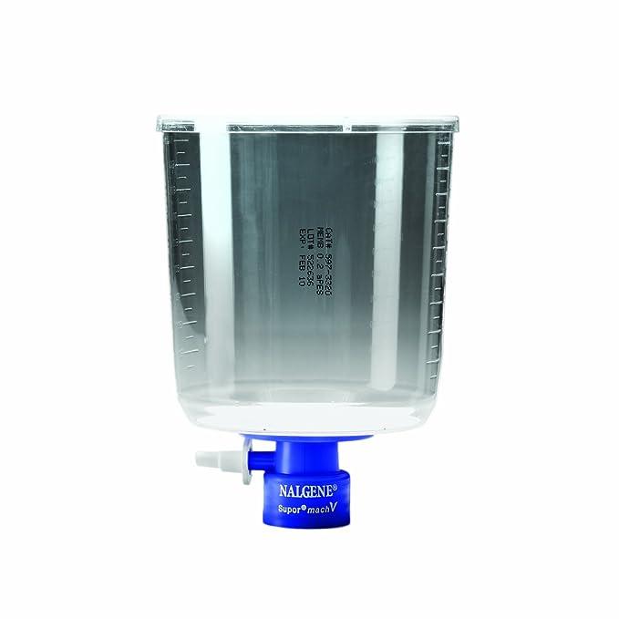 500mL Capacity Nalgene MF75 Series Lab Filter Unit Polystyrene with Supor MachV 0.2 Micron Case of 12 75mm Membrane Diameter