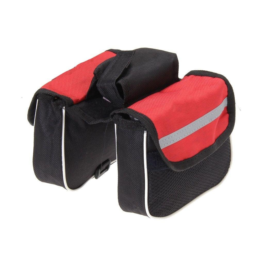 Cycling Double Side Pannier Bag Rack Saddle Bag Black CALISTOUK