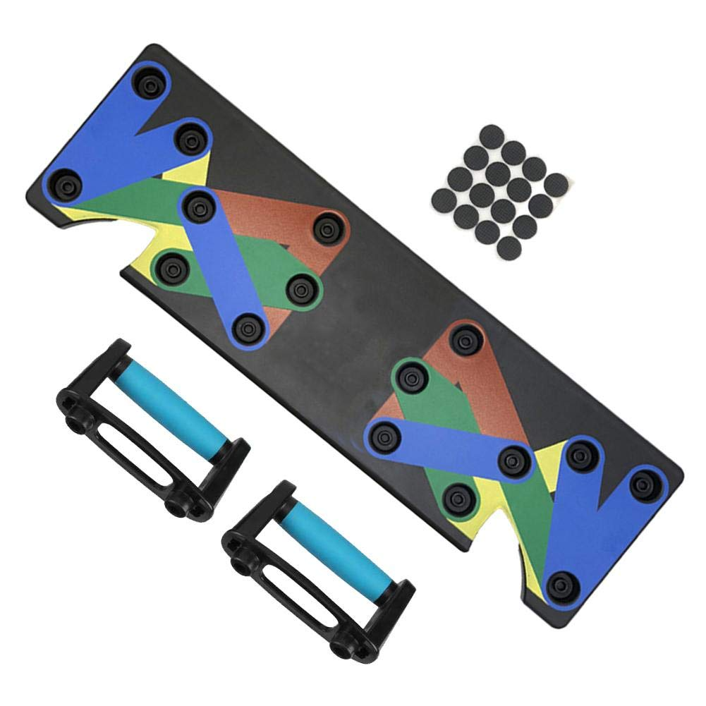 IMSHI 9 in 1 Unisex The Multi-Position Push up Board Push Up Rack Board System Fitness Train Gym Exercise Stands