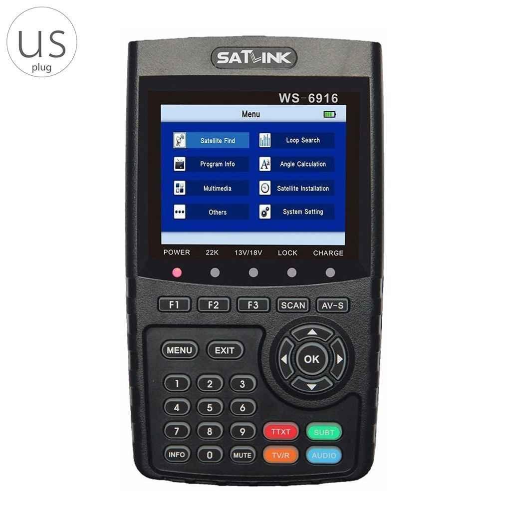 SATLINK WS-6916 デジタル サテライトファインダー レベルチェッカー 衛星 アンテナ調整器 DVB-S/S2,MPEG-2/MPEG4に対応 スピーカー内蔵 HDMI アウトに対応【LORIAJP品】   B07FYPY2DG