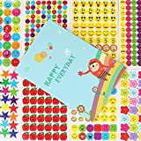 apple behavior chart - Reward Stickers for Kids by WEfun,4900 Multi Color Incentive Stickers for Teachers Classroom and School Bulk Use