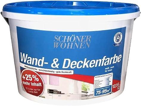 Wand Und Deckenfarbe 12 5 L Weiss Matt Din En 13 300 Schoner Wohnen Amazon De Baumarkt