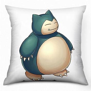 Pokemon Snorlax impresa tiro con cremallera cojín almohada ...