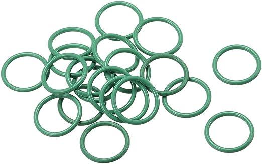 30Pcs 12mm x 1mm FKM O-rings Heat Resistant Sealing Ring Grommets Green