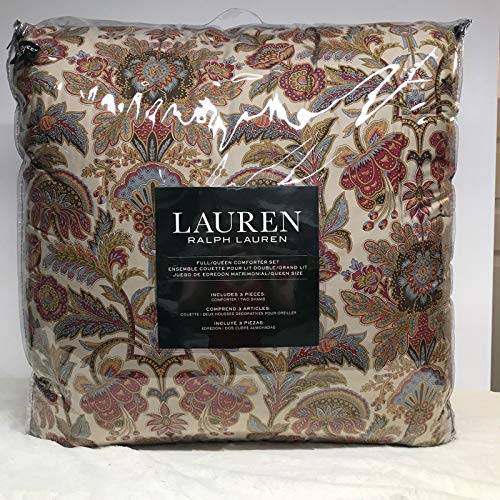 Ralph Lauren Fall Floral Jacobean Chapman Comforter Set - Full Queen Size (Includes 2 Matching Shams) Bohemian (Jacobean Floral)