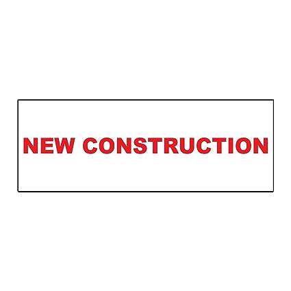 Amazon.com: Nueva construcción Real Estate Rider Sign de ...