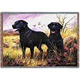 Pure Country 1137-T Black Lab Pet Blanket, Various Blended Colorways, 53 by 70-Inch