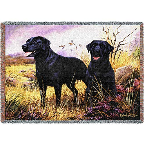 Pure Country 1137-T Black Lab Pet Blanket, Various Blended Colorways, 53 by 70-Inch -
