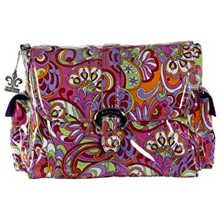 Kalencom Laminated Buckle Bag, Russian Floral Pink