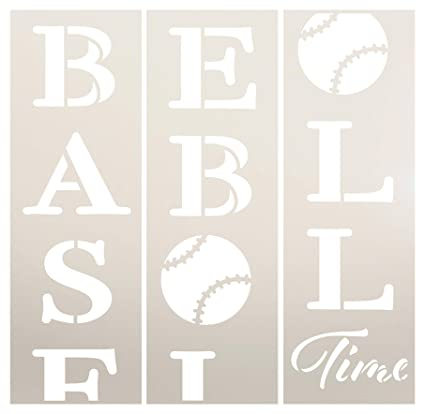 Amazon.com: Baseball Time Tall Porch Stencil by StudioR12 ...