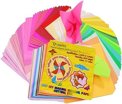 Amazon.com: Papel Onepine Origami de 6.0 x 6.0 in, 400 hojas ...